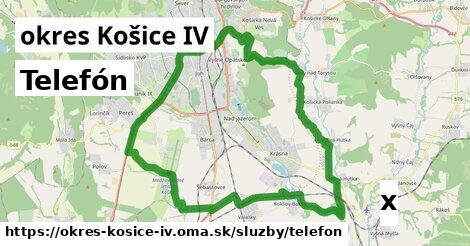 telefón v okres Košice IV