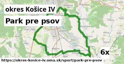 park pre psov v okres Košice IV