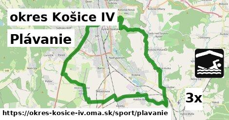 plávanie v okres Košice IV