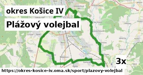 plážový volejbal v okres Košice IV
