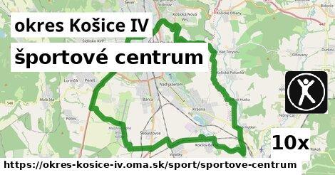 športové centrum v okres Košice IV