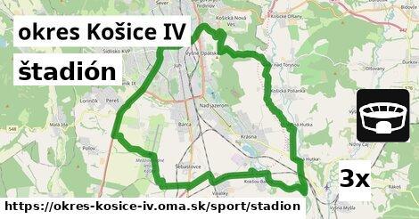 štadión v okres Košice IV