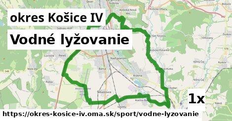 vodné lyžovanie v okres Košice IV