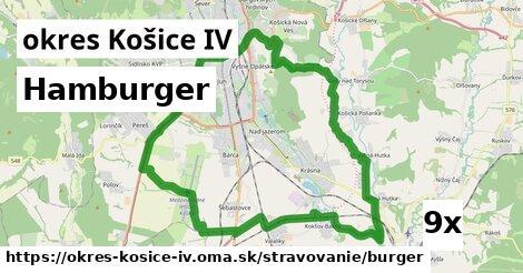 hamburger v okres Košice IV