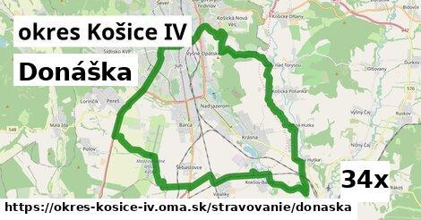 donáška v okres Košice IV