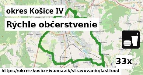 rýchle občerstvenie v okres Košice IV