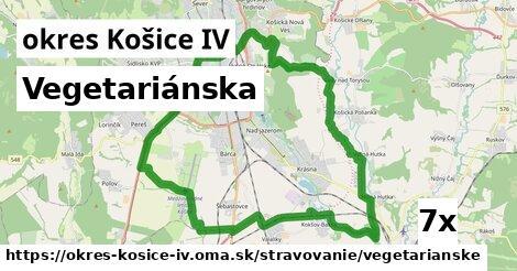 ilustračný obrázok k Vegetariánska, okres Košice IV