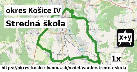 stredná škola v okres Košice IV