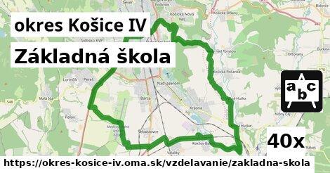 základná škola v okres Košice IV
