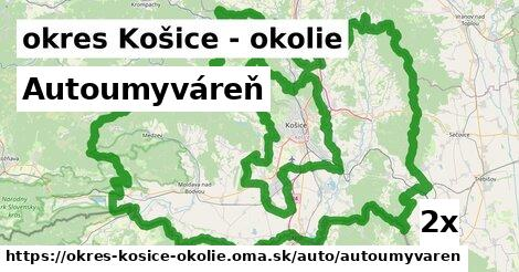 ilustračný obrázok k Autoumyváreň, okres Košice - okolie