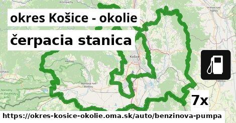 ilustračný obrázok k čerpacia stanica, okres Košice - okolie
