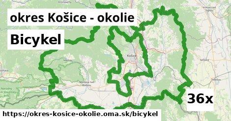 bicykel v okres Košice - okolie