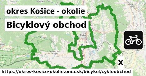 ilustračný obrázok k Bicyklový obchod, okres Košice - okolie