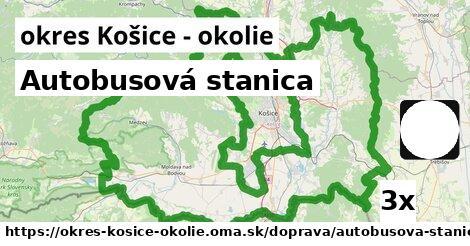 ilustračný obrázok k Autobusová stanica, okres Košice - okolie