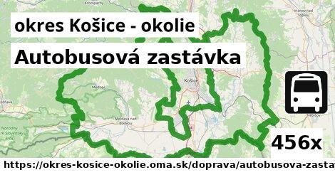 autobusová zastávka v okres Košice - okolie