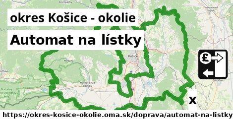 ilustračný obrázok k Automat na lístky, okres Košice - okolie