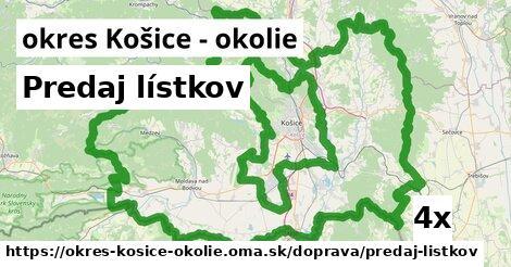 ilustračný obrázok k Predaj lístkov, okres Košice - okolie