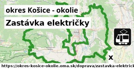 ilustračný obrázok k Zastávka električky, okres Košice - okolie