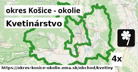 Kvetinárstvo, okres Košice - okolie