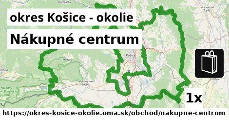 Nákupné centrum, okres Košice - okolie
