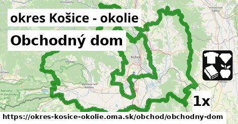 Obchodný dom, okres Košice - okolie