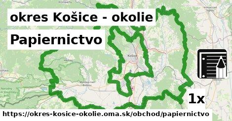 Papiernictvo, okres Košice - okolie