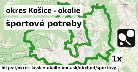 športové potreby, okres Košice - okolie