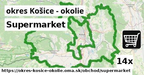 Supermarket, okres Košice - okolie