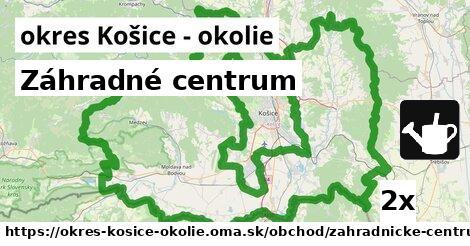 Záhradné centrum, okres Košice - okolie