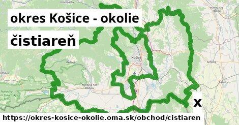 ilustračný obrázok k čistiareň, okres Košice - okolie