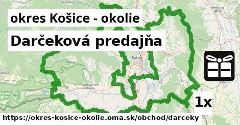 ilustračný obrázok k Darčeková predajňa, okres Košice - okolie