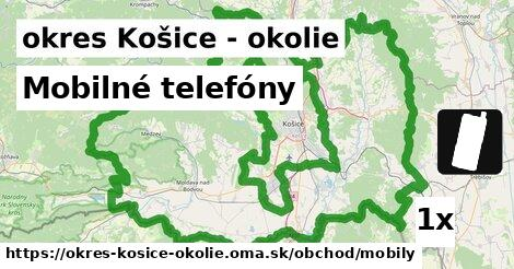 ilustračný obrázok k Mobilné telefóny, okres Košice - okolie