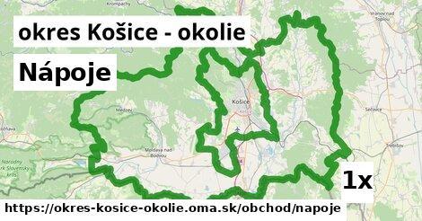 ilustračný obrázok k Nápoje, okres Košice - okolie