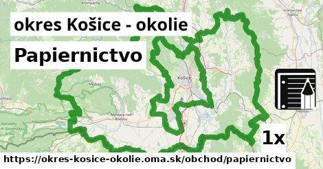 ilustračný obrázok k Papiernictvo, okres Košice - okolie