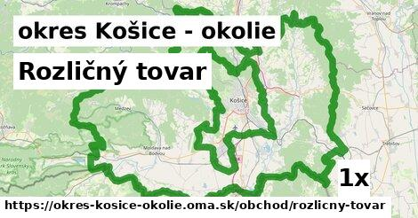 ilustračný obrázok k Rozličný tovar, okres Košice - okolie