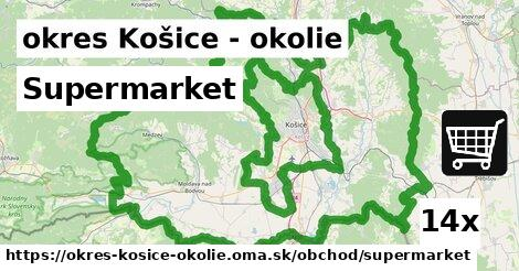 ilustračný obrázok k Supermarket, okres Košice - okolie