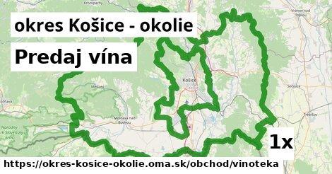 ilustračný obrázok k Predaj vína, okres Košice - okolie