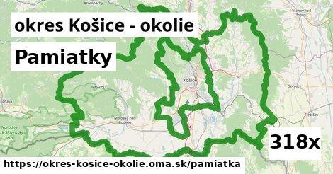 pamiatky v okres Košice - okolie