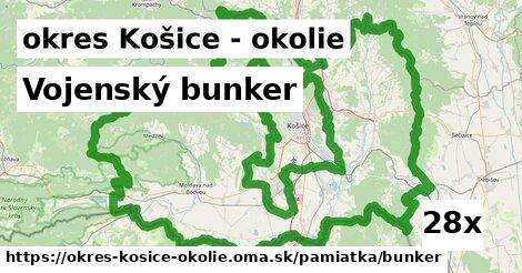 vojenský bunker v okres Košice - okolie