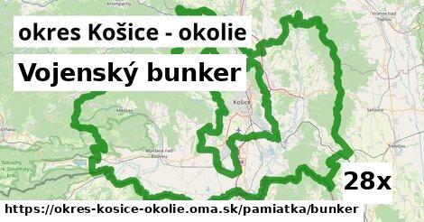 ilustračný obrázok k Vojenský bunker, okres Košice - okolie