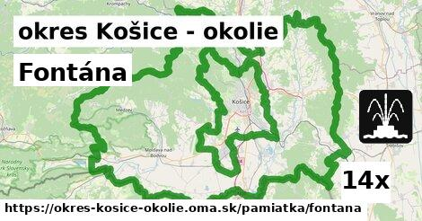 ilustračný obrázok k Fontána, okres Košice - okolie