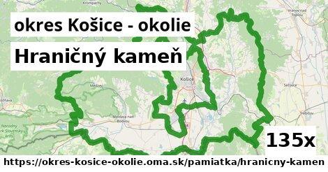 hraničný kameň v okres Košice - okolie