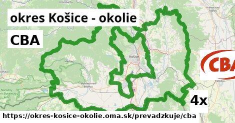 ilustračný obrázok k CBA, okres Košice - okolie