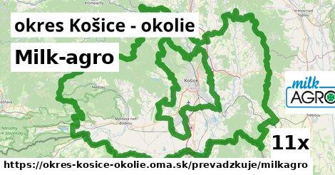 Milk-agro v okres Košice - okolie