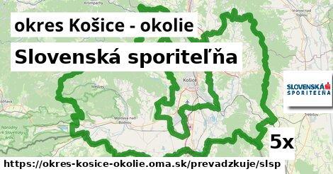 ilustračný obrázok k Slovenská sporiteľňa, okres Košice - okolie