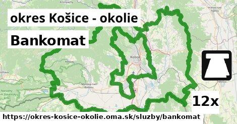 ilustračný obrázok k Bankomat, okres Košice - okolie