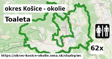 ilustračný obrázok k Toaleta, okres Košice - okolie