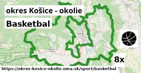 Basketbal, okres Košice - okolie