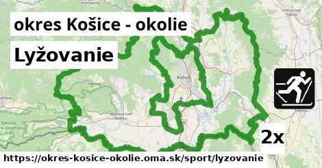 Lyžovanie, okres Košice - okolie