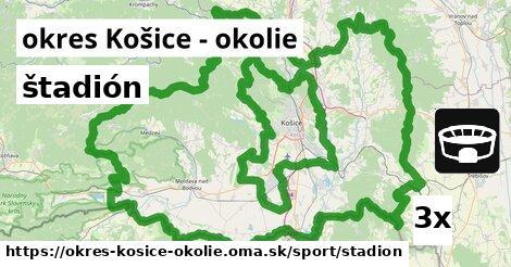 štadión, okres Košice - okolie